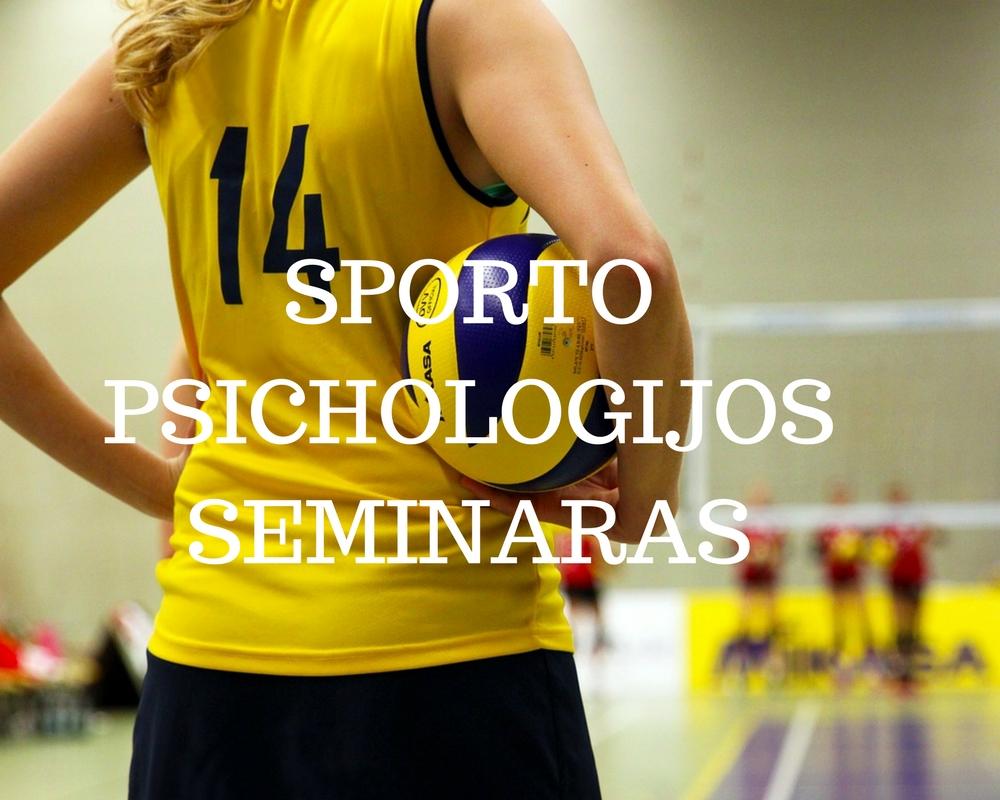 Sporto psichologijos seminaras